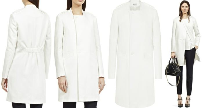 weißer-Mantel-schwarze-Hosen-Schuhe-Absatz-Tasche-elegante-Kombination