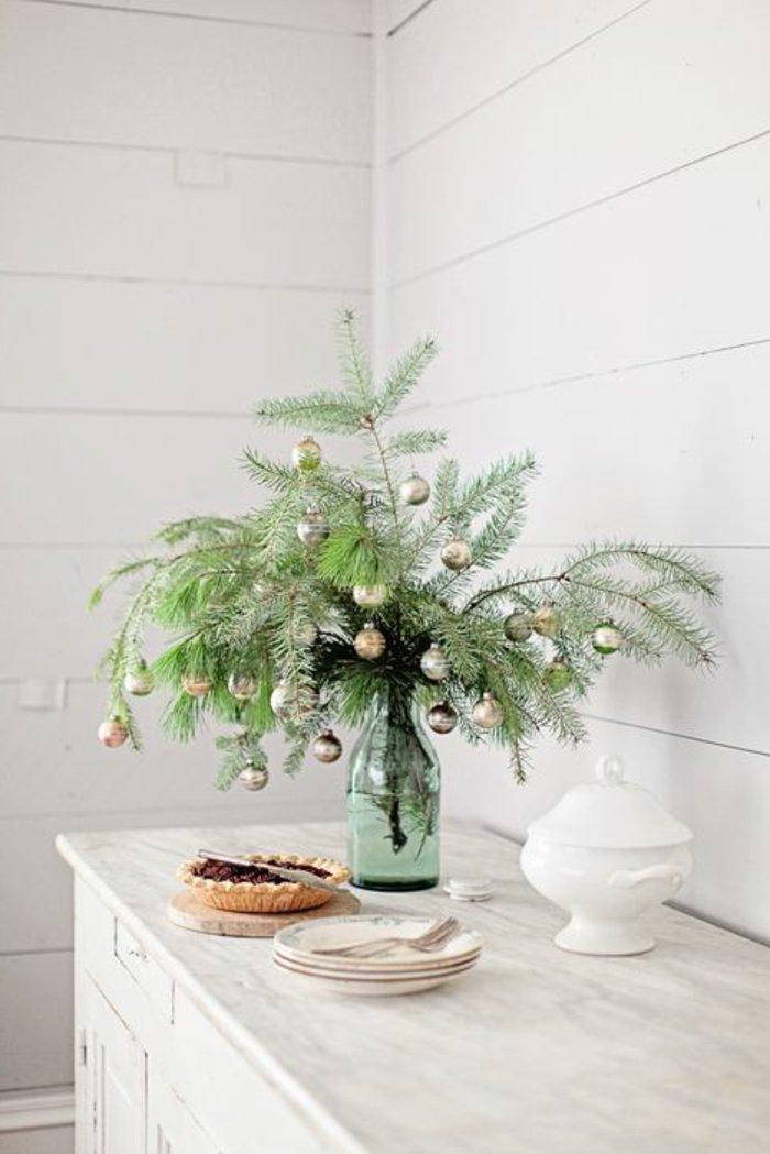 Ideen f r weihnachtliche dekoration mit tannenzweigen - Deko mit asten und zweigen ...