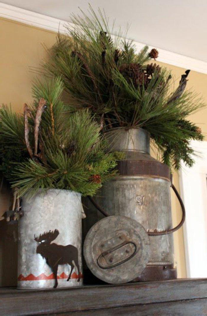 Ideen f r weihnachtliche dekoration mit tannenzweigen - Mit asten dekorieren ...