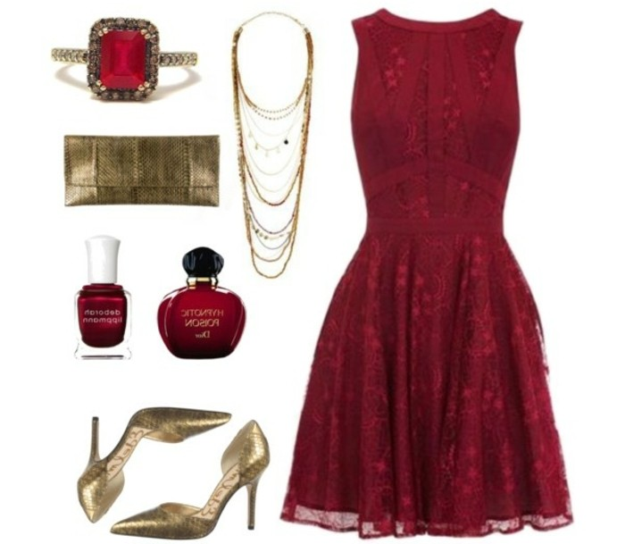 welche-schuhfarbe-zu-rotem-kleid-rot-und-golden-fuer-klassischen-eleganten-look-auf-einer-party-spitze-kleid