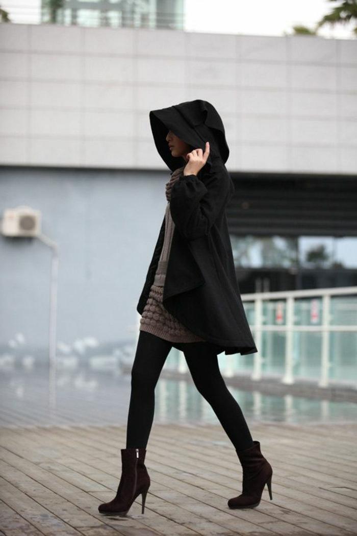 winterjacken-für-damen-sehr-schickes-schwarzes-modell