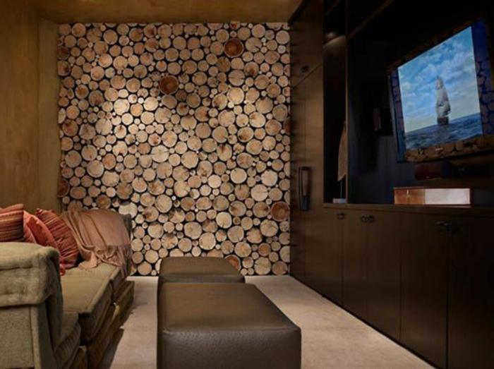 wohnwand aus holz akzent im wohnzimmer schaffen - Wohnwand Holz