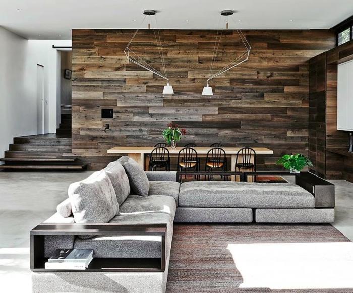 wohnwand aus holz ein attraktives ecksofa - Wohnwand Holz