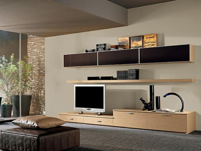 wohnwand aus holz f r mehr gem tlichkeit im zimmer. Black Bedroom Furniture Sets. Home Design Ideas