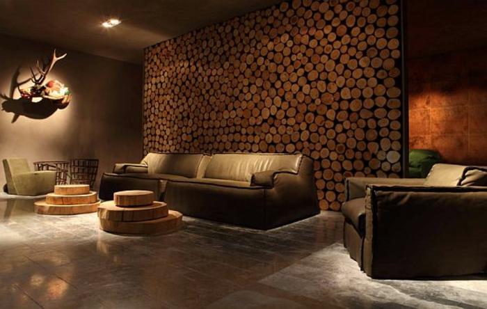 Wohnwand rustikal modern  Wohnwand aus Holz für mehr Gemütlichkeit im Zimmer! - Archzine.net