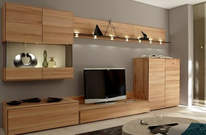 Wohnwand Design Holz