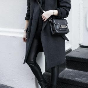 Schwarzer Mantel - klassisch oder extravagant?