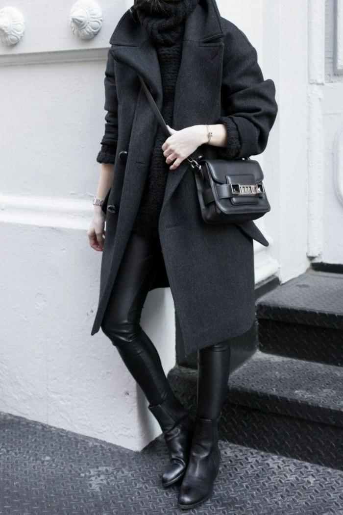 wollmantel-damen-Pullover-Leggings-schwarz