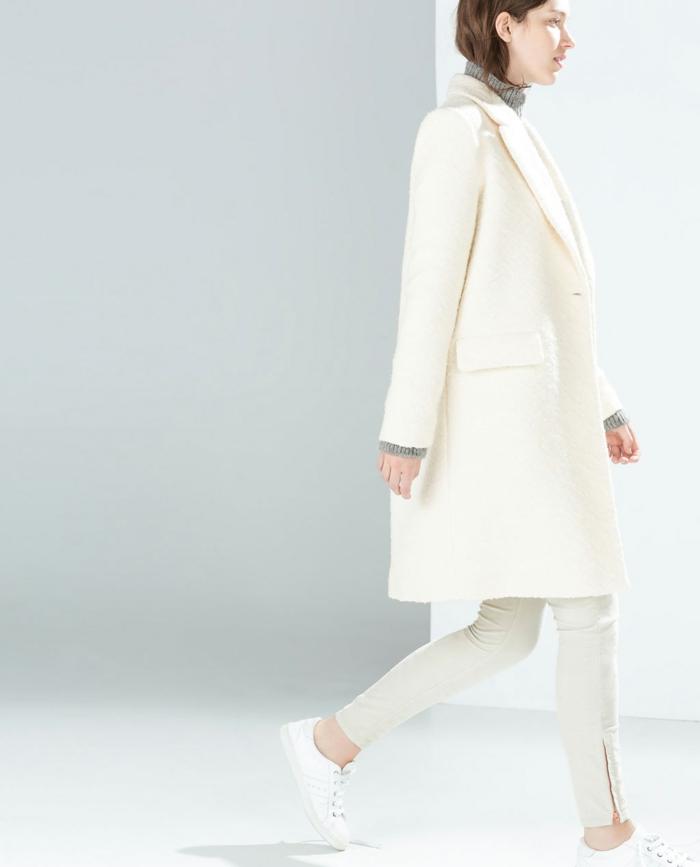 wollmantel-damen-weiß-Zara-Kollektion