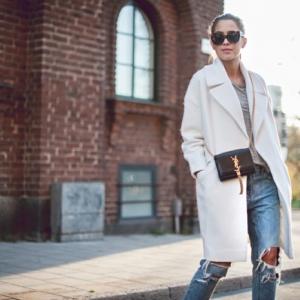 Weißer Mantel - der Stil der Adligen