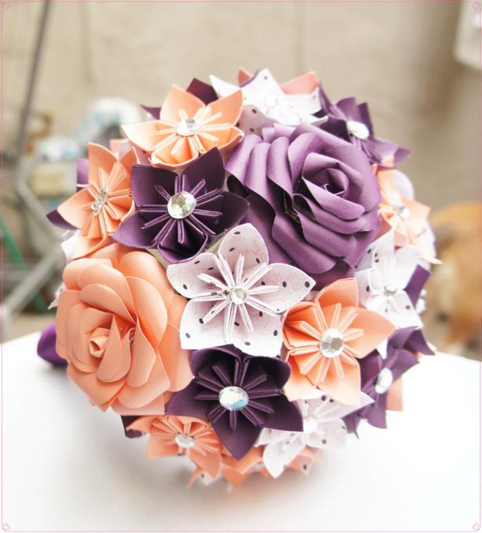 wunderschöne-origami-Papierblumen-Strauß