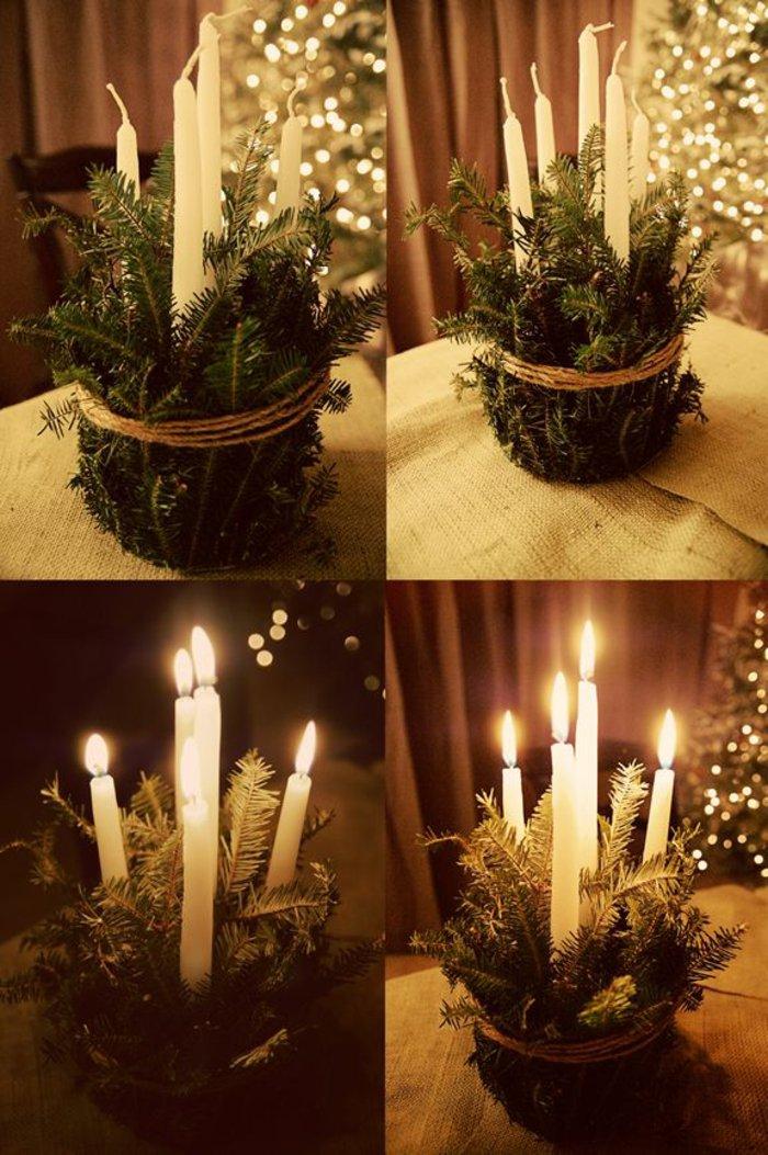 wunderschöne-weihnachtliche-Tischdeko-Erlenzweige-Kerzen