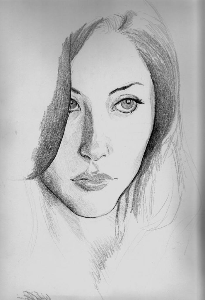60 unikale zeichnungen mit bleistift for Basic portrait painting