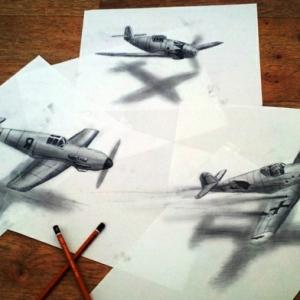 60 unikale Zeichnungen mit Bleistift!