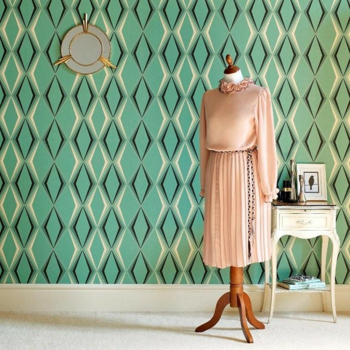 Atelier-vintage-Einrichtungsstil-retro-tapeten