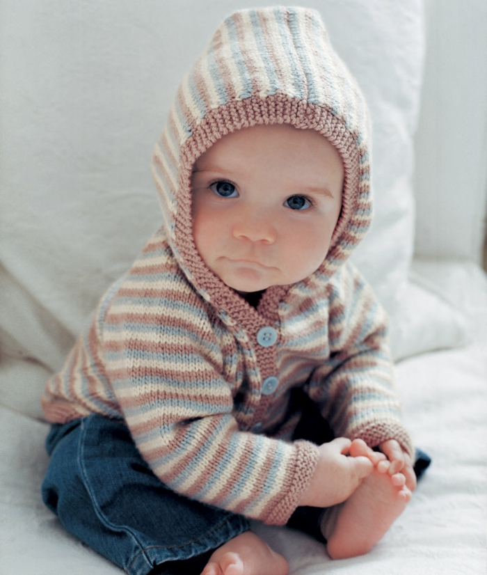 Baby-Pullover-stricken-