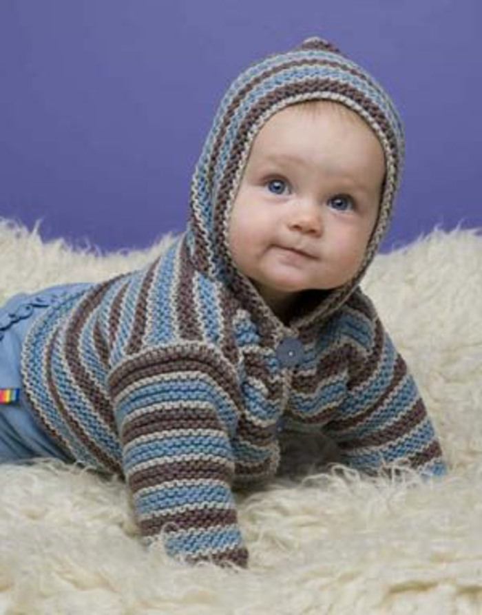 Baby Pullover stricken - tolle Ideen und Muster - Archzine.net