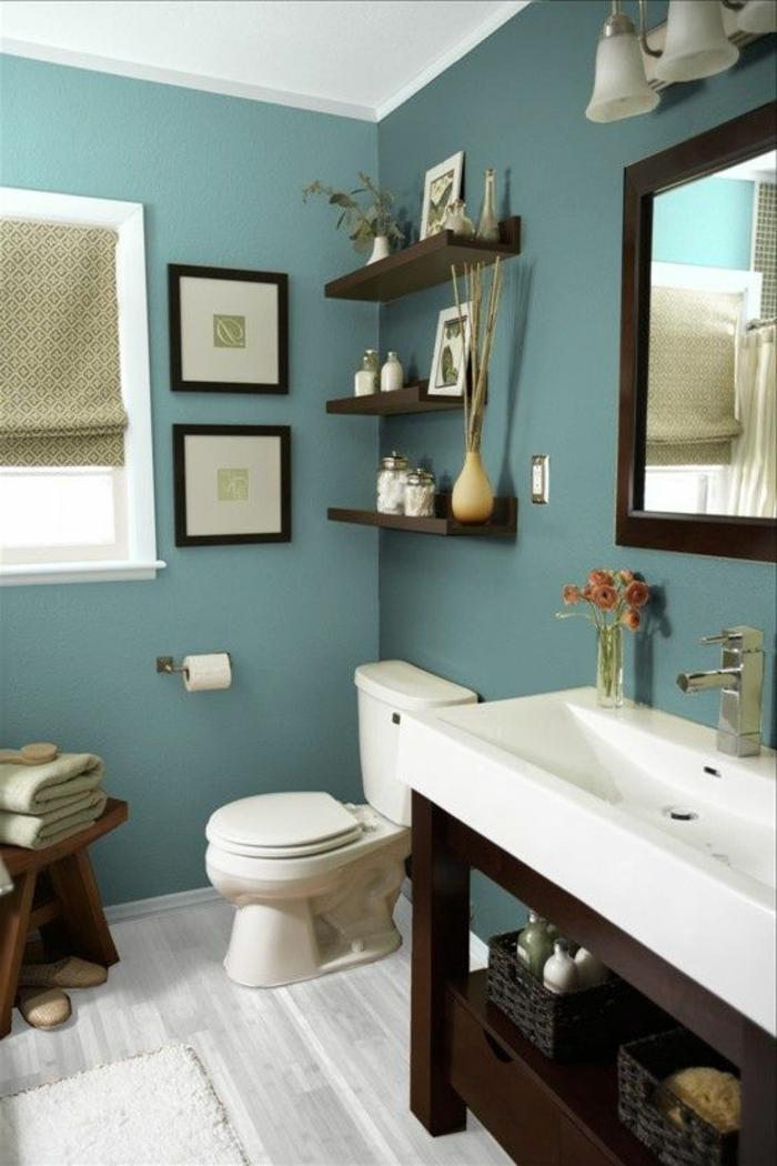 Deko ideen badezimmer wandakzente m belideen for Zimmer deko blumen