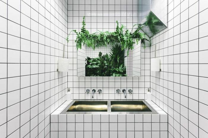 Badezimmer Deko Ideen Grüne Ecke Natur
