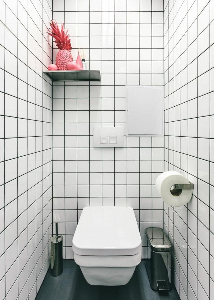 Badezimmer-Deko-Ideen-rosa-Dekoration-gefärbte-Früchte