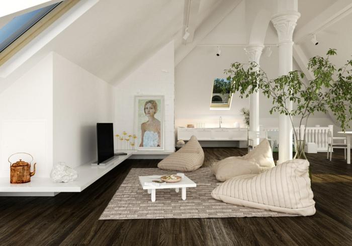 Bilder-fürs-wohnzimmer-Mädchen-Gestalt-modernes-Interieur-Pastellfarben