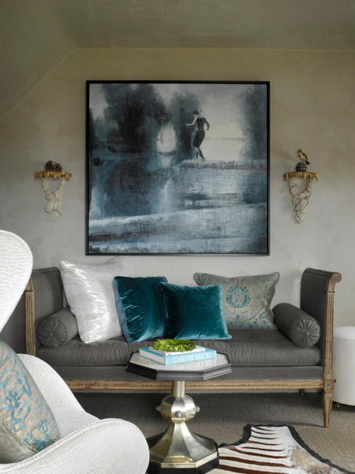 Bilder-fürs-wohnzimmer-trübselige-Darstellung-dunkle-Nuancen-elegantes-Interieur