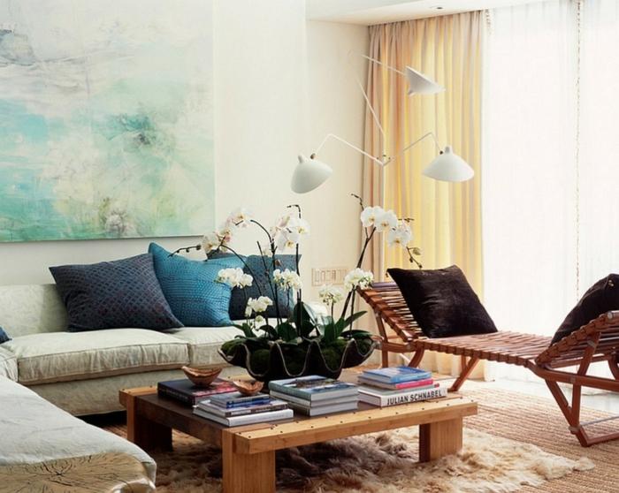 Bilder-fürs-wohnzimmer-zärtliche-Darstellung-gemütliches-Interieur