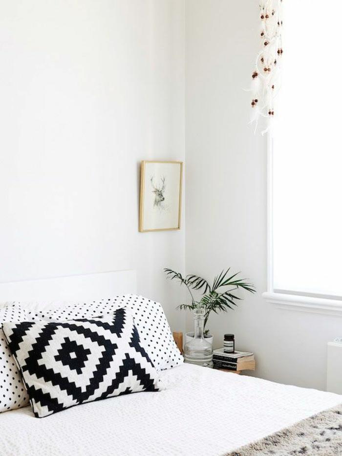 Boho-Modelle-kissenbezüge-schwarz-weiße-Muster