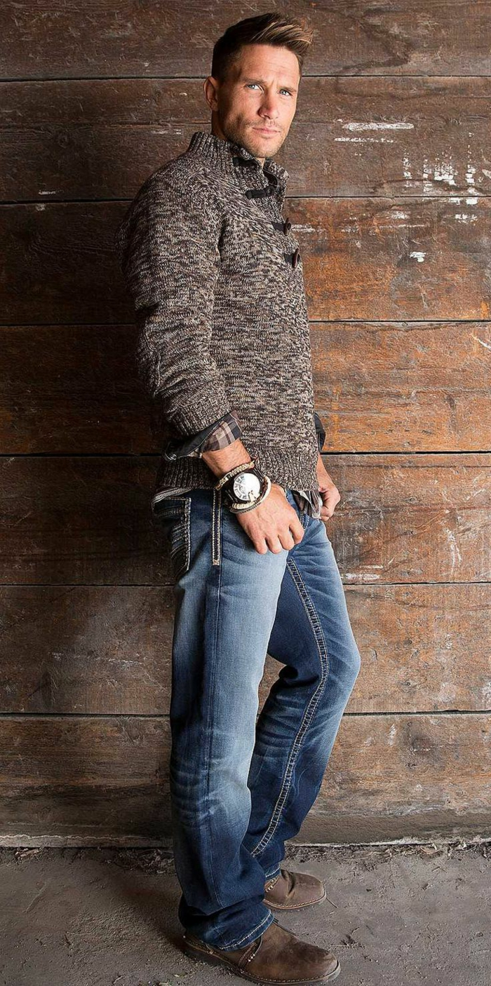 Cowboy-Look-Jeans-warmer-Pullover