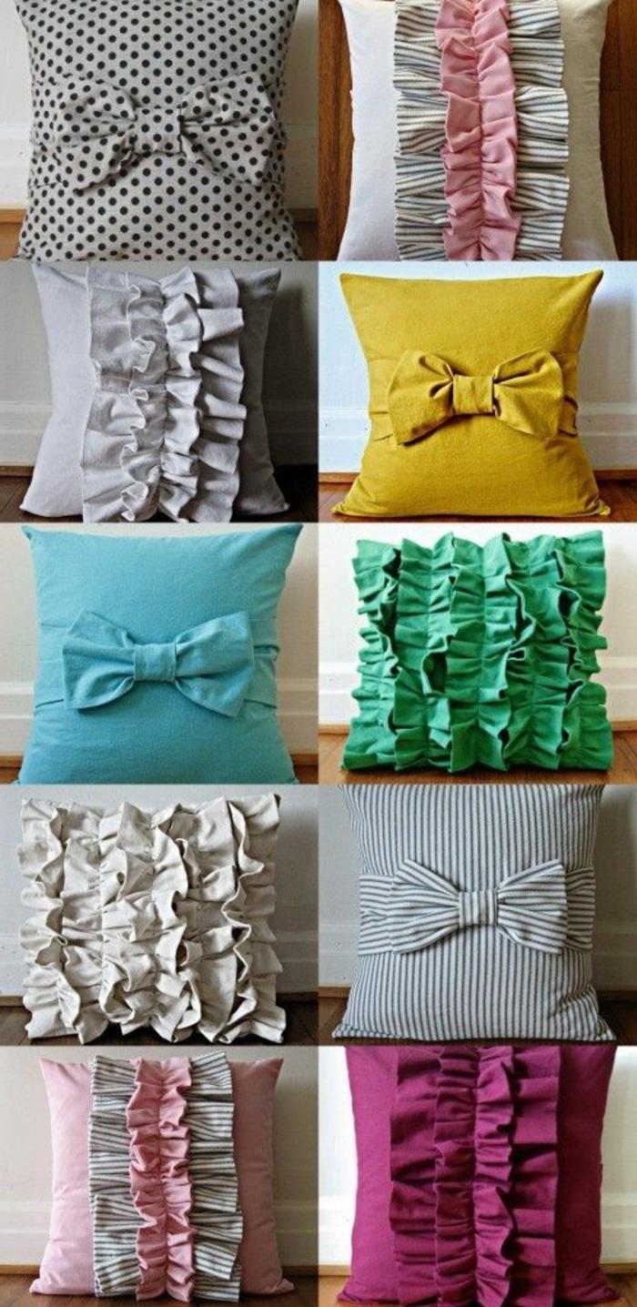 DIY-kissenhüllen-verschiedene-Modelle-schöne-Dekorationen-Farben