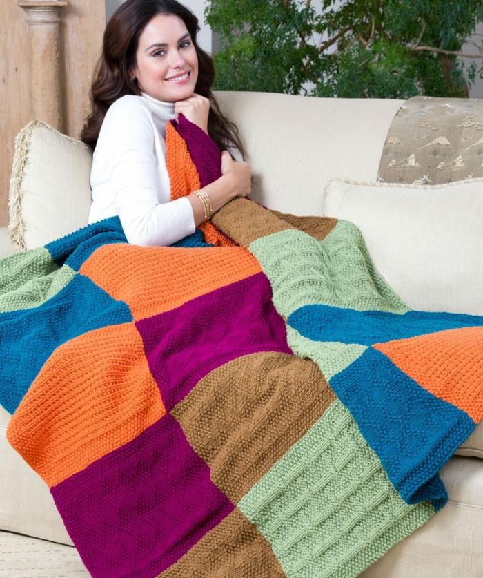 Decke Häkeln Scih Bedecken Farbenfroh