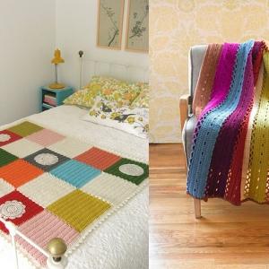 43 stilvolle Modelle Decken zum Häkeln