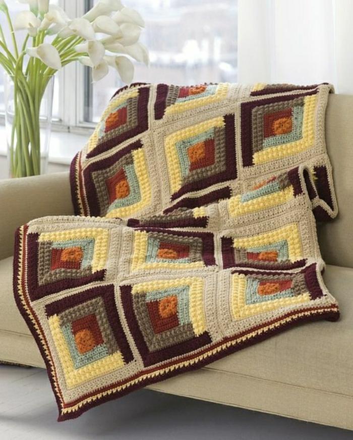43 stilvolle Modelle Decken häkeln