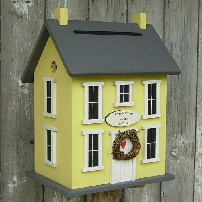 Deko-Vogelhaus-Hochzeit-Grüßkarten-süße-Idee