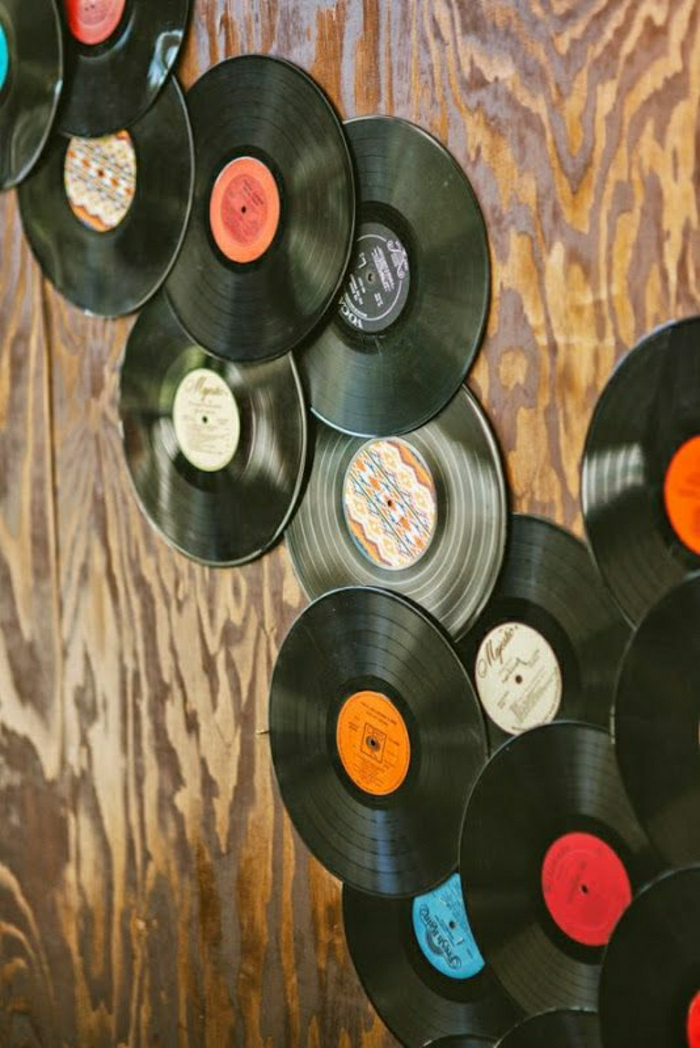 Originelle diy ideen mit schallplatten for Vinyl record decoration ideas