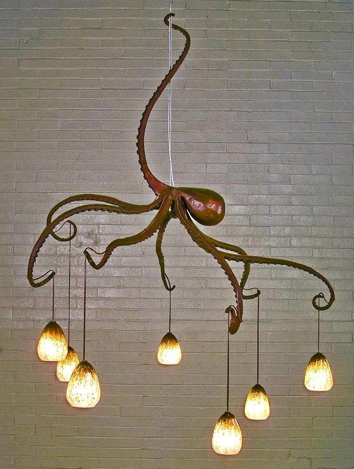 Designer-Leuchten-Oktopode-Modell-attraktive-extravagante-Idee