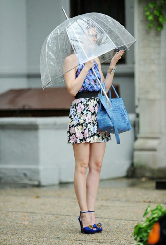 Durchsichtiger-Regenschirm-blau-tasche-