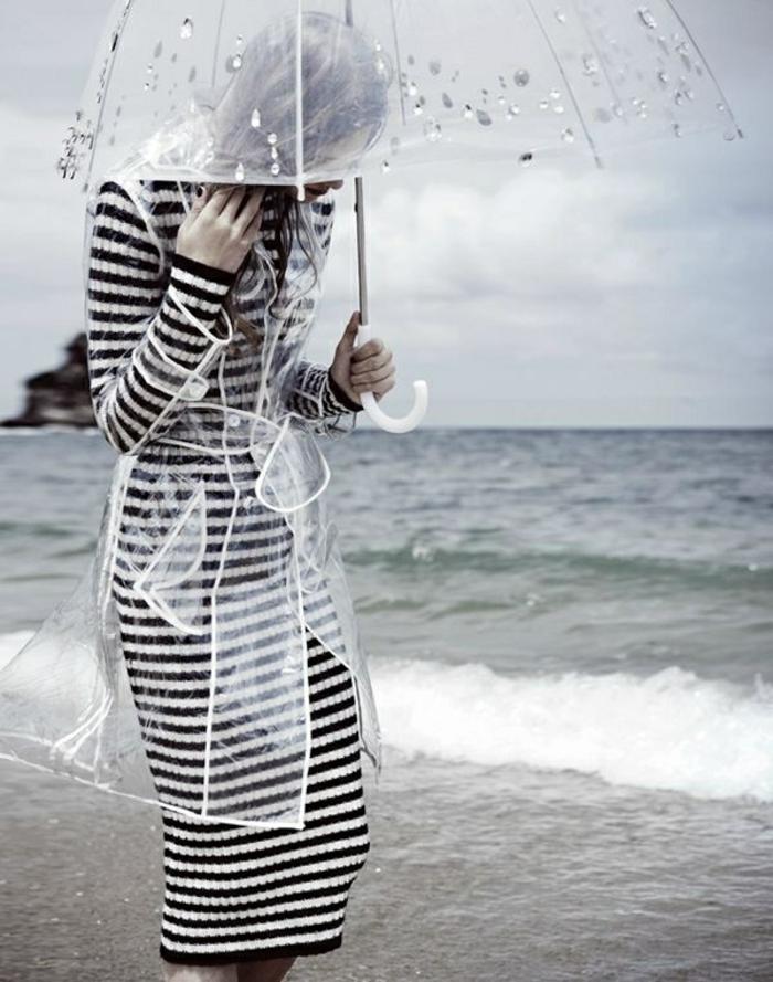 Durchsichtiger-Regenschirm-schwarz-weiß-klein