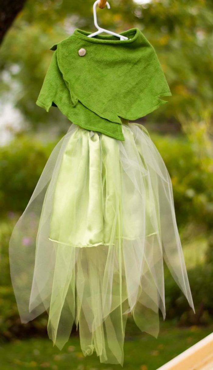Feenkostüm-zwei-Teile-weiß-grün