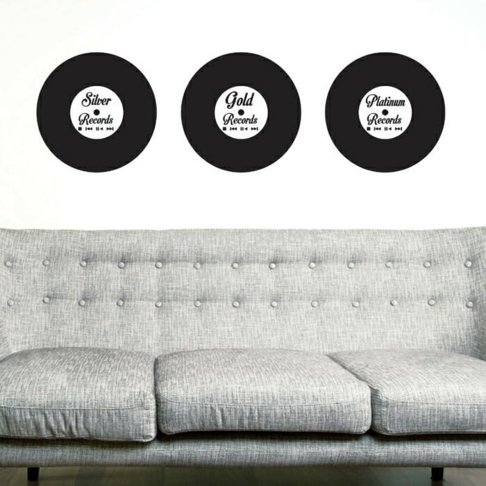 Schallplatten deko wand 98 ausgefallene ideen f 252 r deko aus schallplatten originelle - Schallplatten wand ...