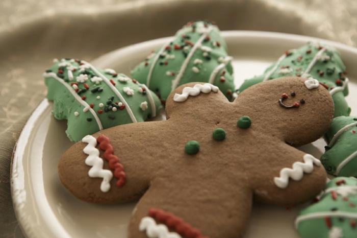 Honigkuchen-mann-und-weihnachts kekse