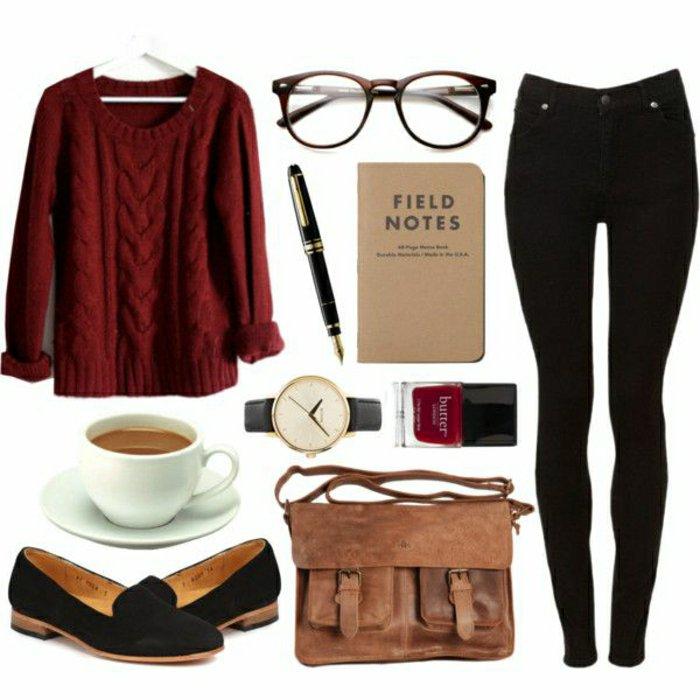 Idee-Kleidung-Damenmode-hipster-style-nerd-Brille