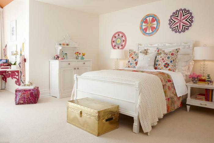 Jugendzimmer-Mädchen-vintage-Dekoration-Möbel