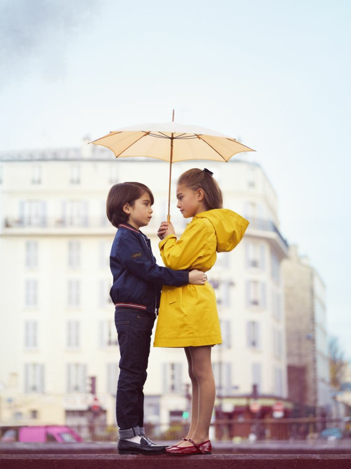 Kinder-Junge-Mädchen-kinderregenschirm-beige