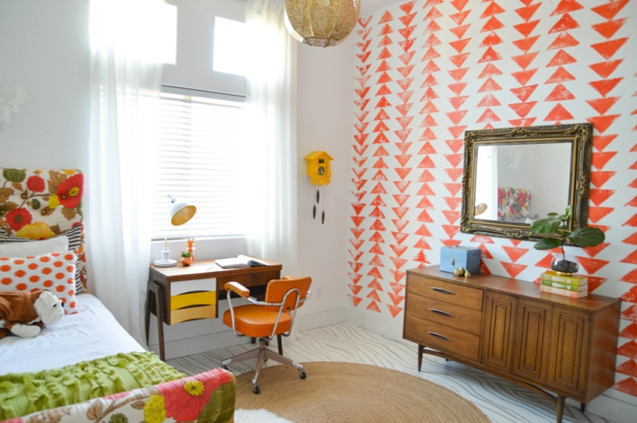 Hier sind ein paar Kinderzimmer, eingerichtet in vintage Stilistik
