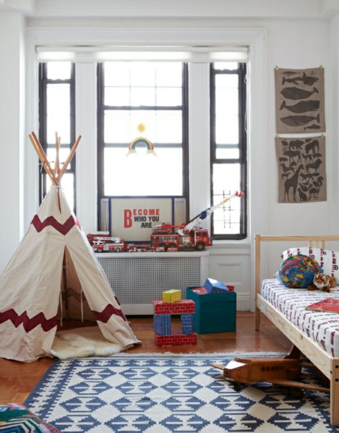 Kinderzimmer-für-Jungen-Tipi-Zelt-Spielraum