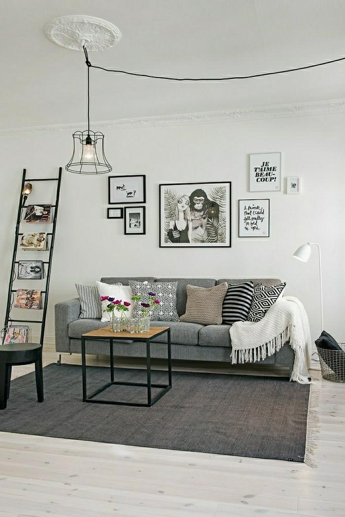 Lampe-Glühbirnenform-im wohnzimmer-originelle-ideen