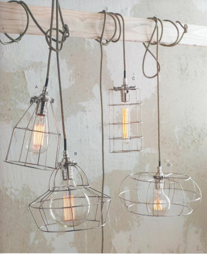 Lampe-Glühbirnenform-und-metall-rahmen