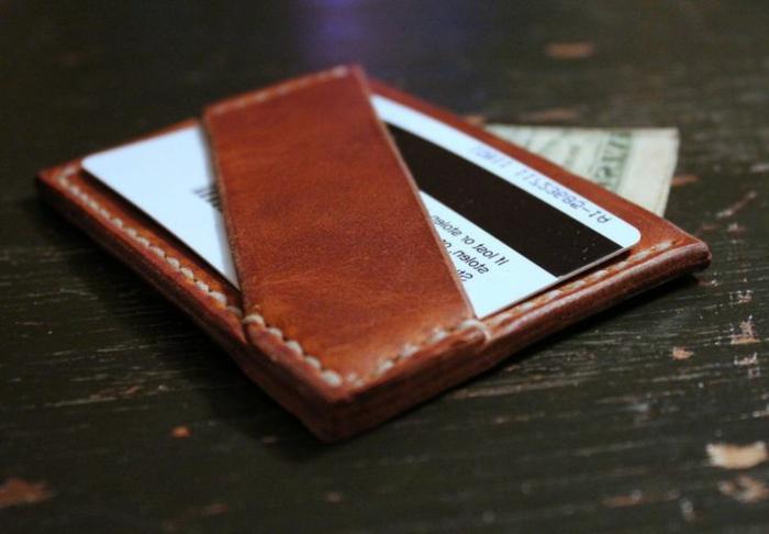 Leder-Geldbörse-klassisches-Modell