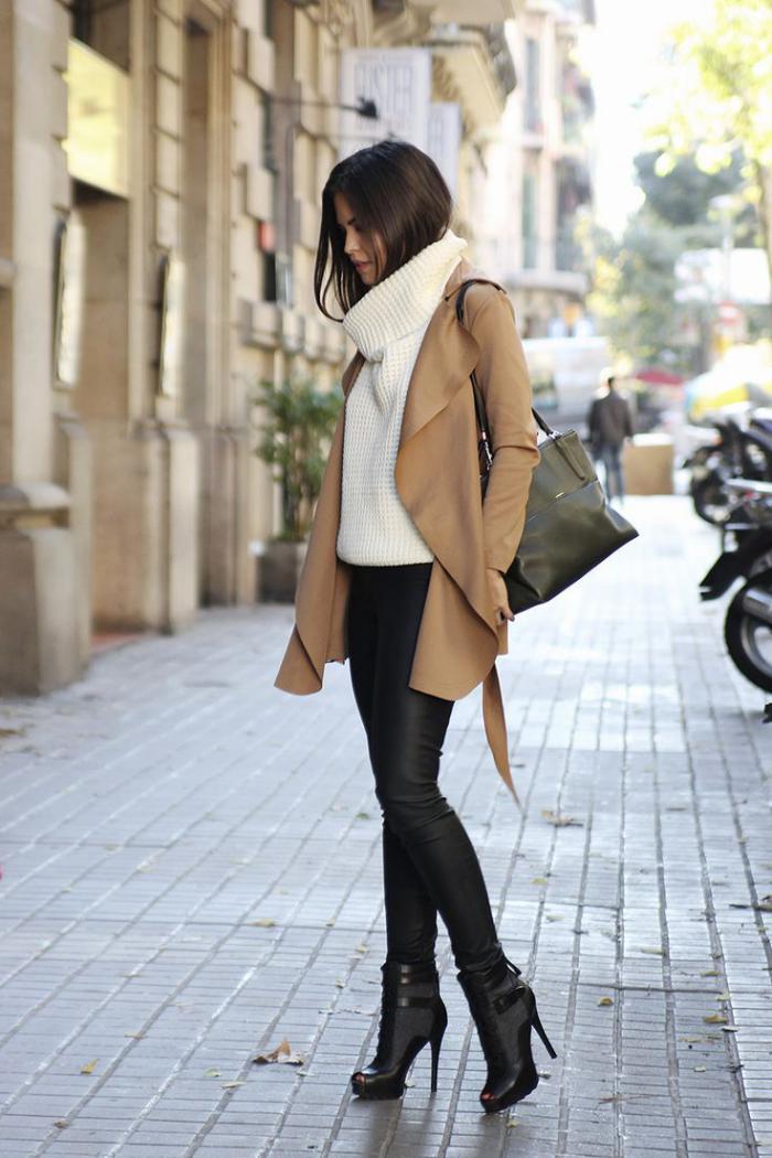 Lederhosen-Pullover-wintermantel-Karamell-Farbe